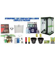 HYDROPONICS 2 IN 1 PROPAGATION AND GROW  TENT COMPLETE PACKAGE
