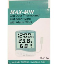 MAX- MIN THERMO HYGROMETER WITH ALARM