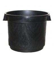 BLACK SOLID POT 300mm 15l