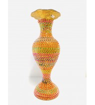 MULTICOLOR STONE FLOWER POT